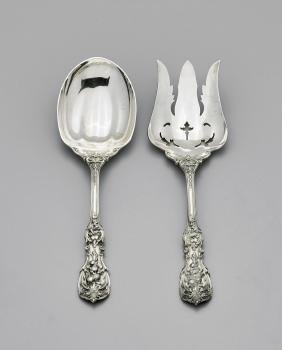 PAIR SERVING UTENSILS BY REED & BARTON: Francis I