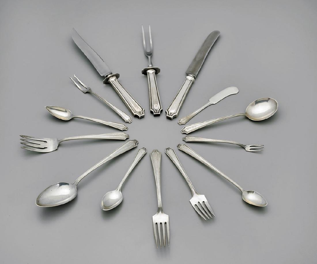 STERLING SILVER FLATWARE BY WHITING-GORHAM: King Albert