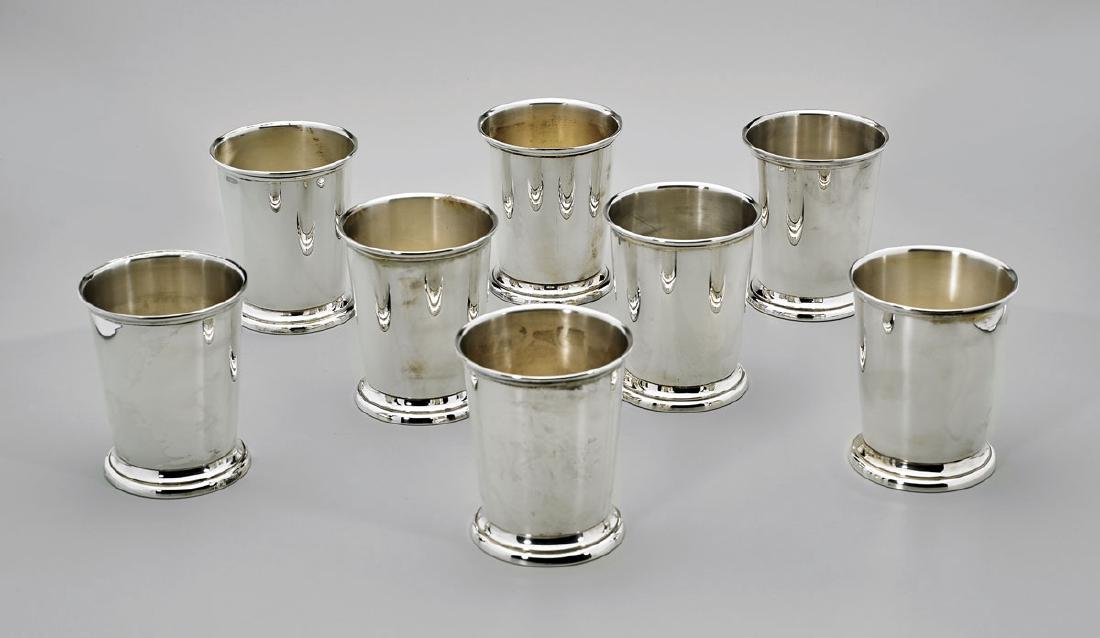 EIGHT STERLING SILVER TUMBLERS/CUPS