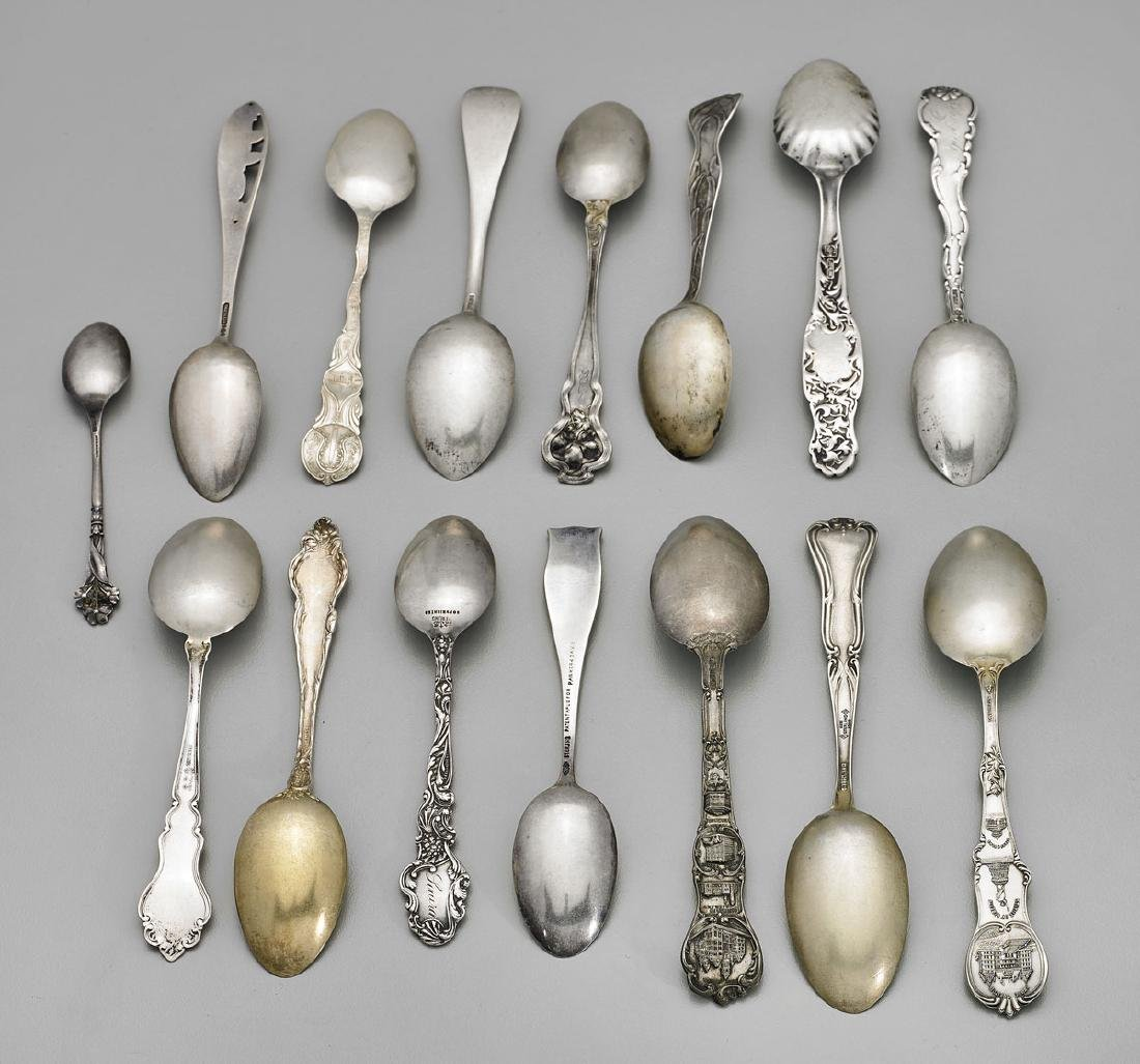 STERLING SILVER SOUVENIR SPOONS: American Cities & - 3