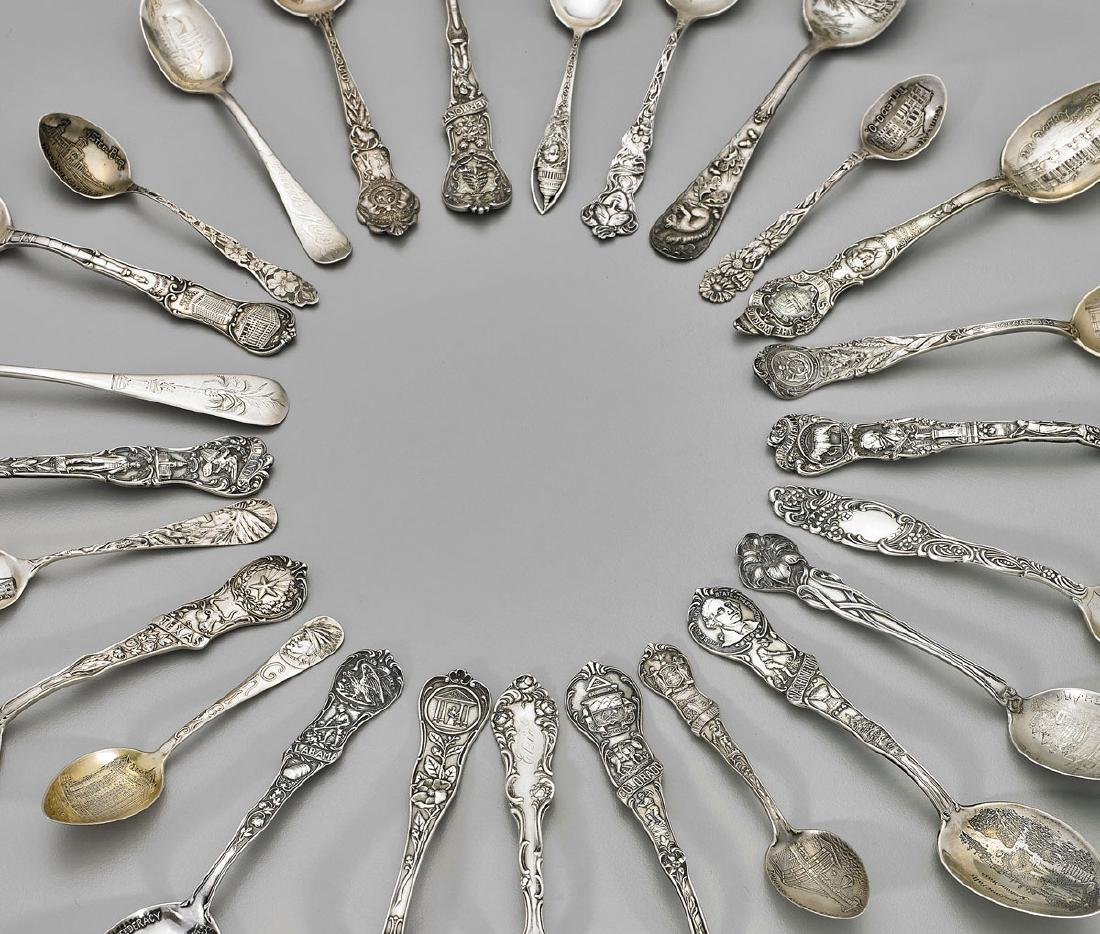 AMERICAN STERLING SOUVENIR SPOONS: Various Makers - 2