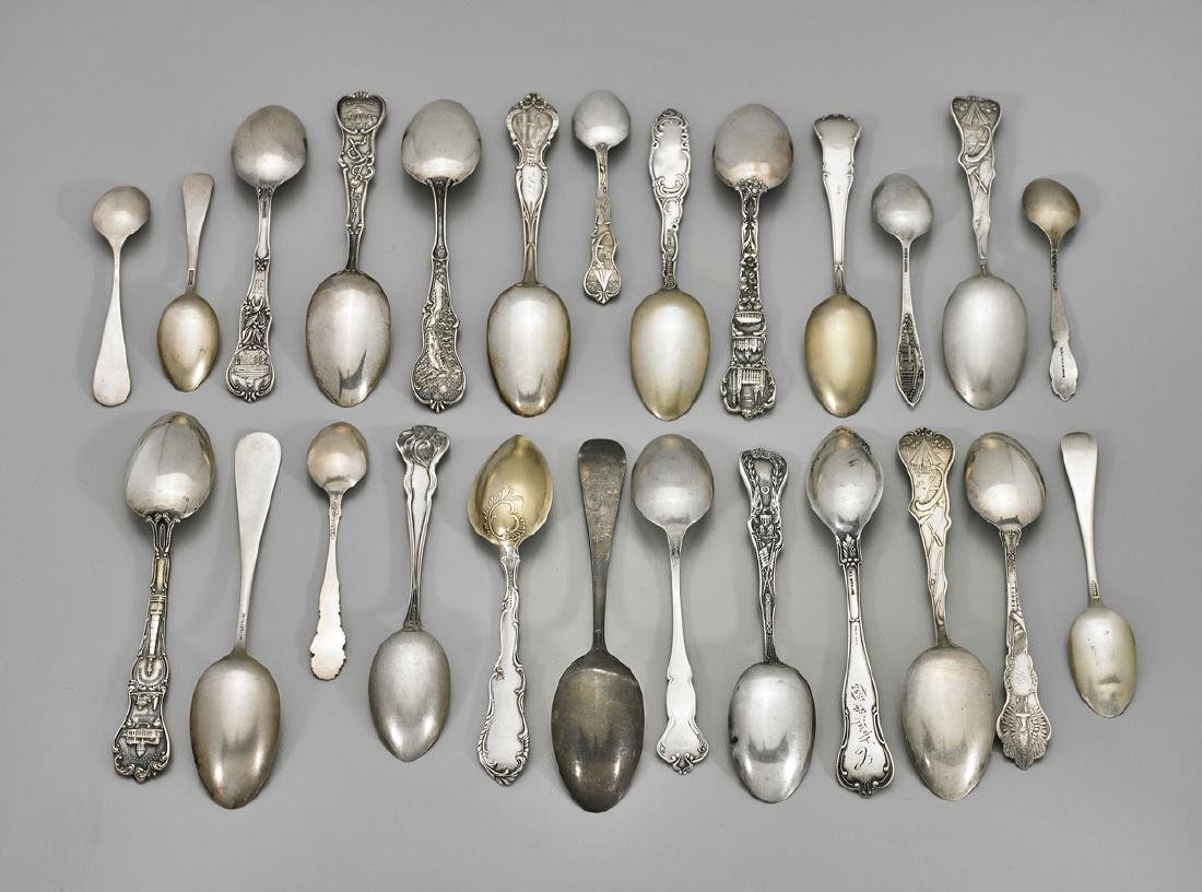 AMERICAN STERLING SOUVENIR SPOONS: Various Makers - 3