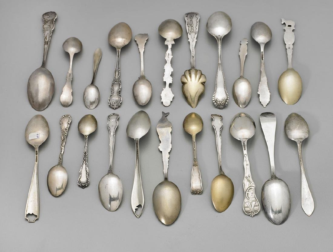 STERLING SILVER SOUVENIR SPOONS: National Parks & - 3