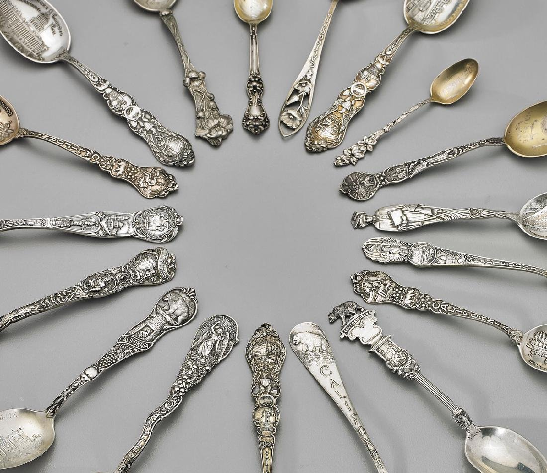 STERLING SILVER SOUVENIR SPOONS & FORK: California - 2