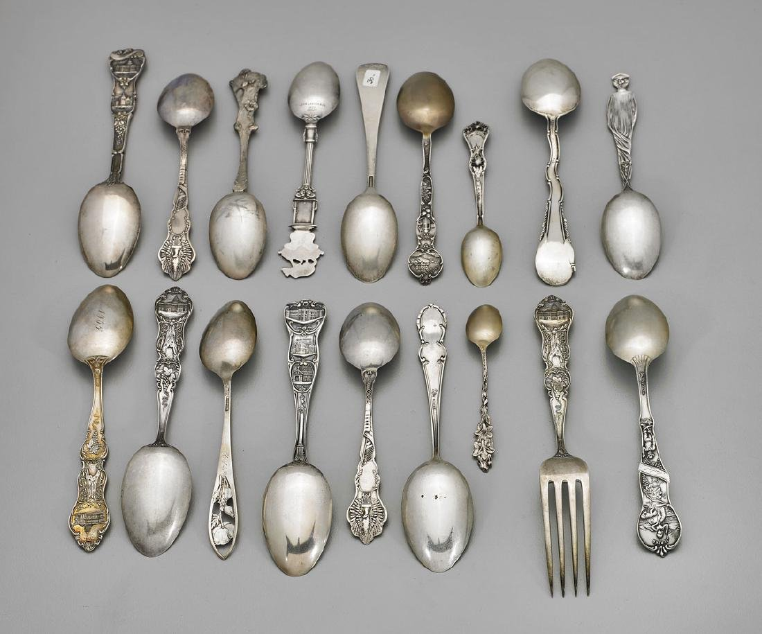 STERLING SILVER SOUVENIR SPOONS & FORK: California - 3