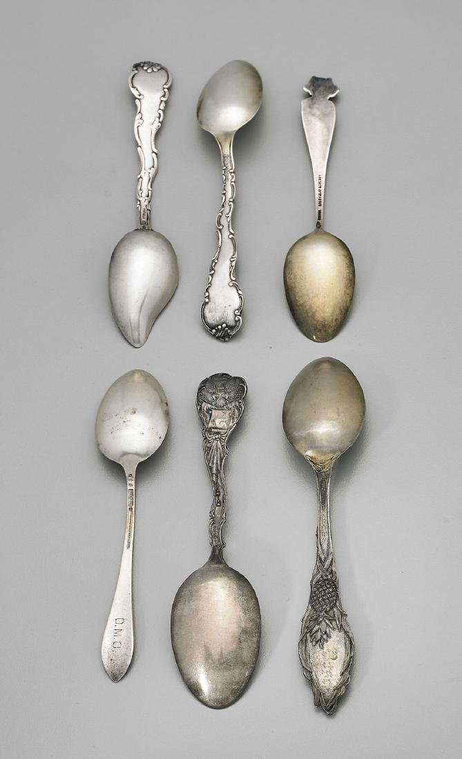 SIX STERLING SILVER SOUVENIR SPOONS: Florida - 3