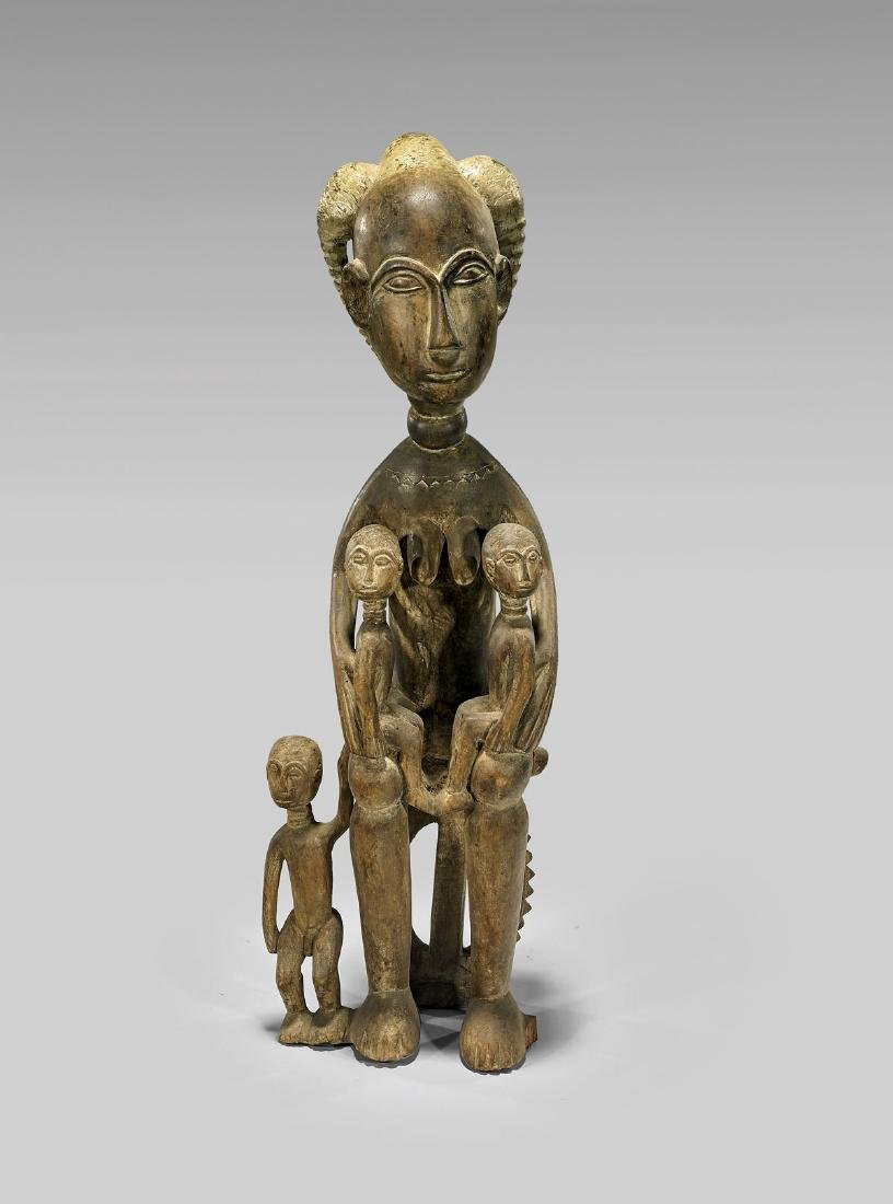 AFRICAN CARVED WOOD MATERNITY GROUP