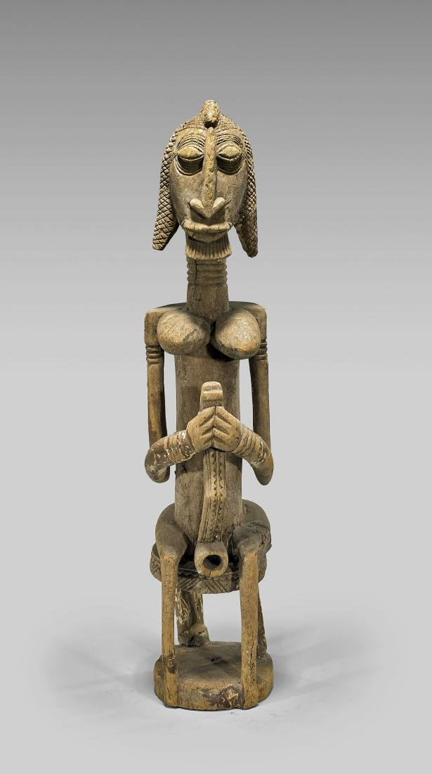 TALL AFRICAN DOGON CARVED WOOD FIGURE
