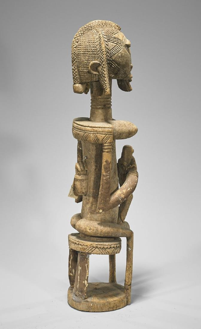 TALL AFRICAN DOGON CARVED WOOD FIGURE - 2