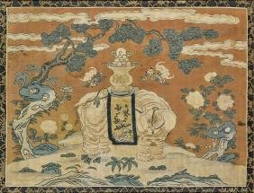 Antique Chinese Embroidered Silk Kesi