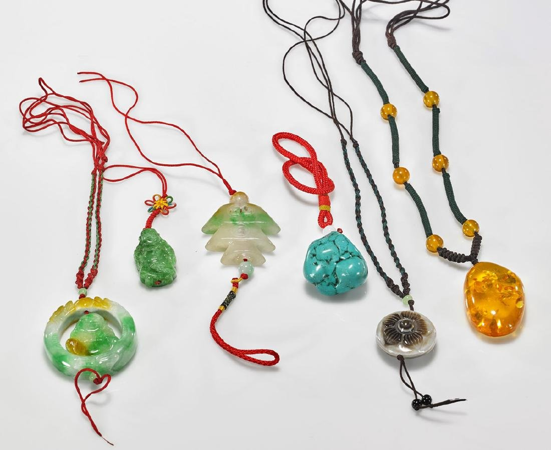 Six Chinese Pendant Necklaces