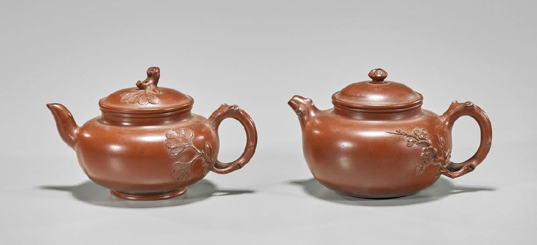 Two Yixing Pottery Teapots