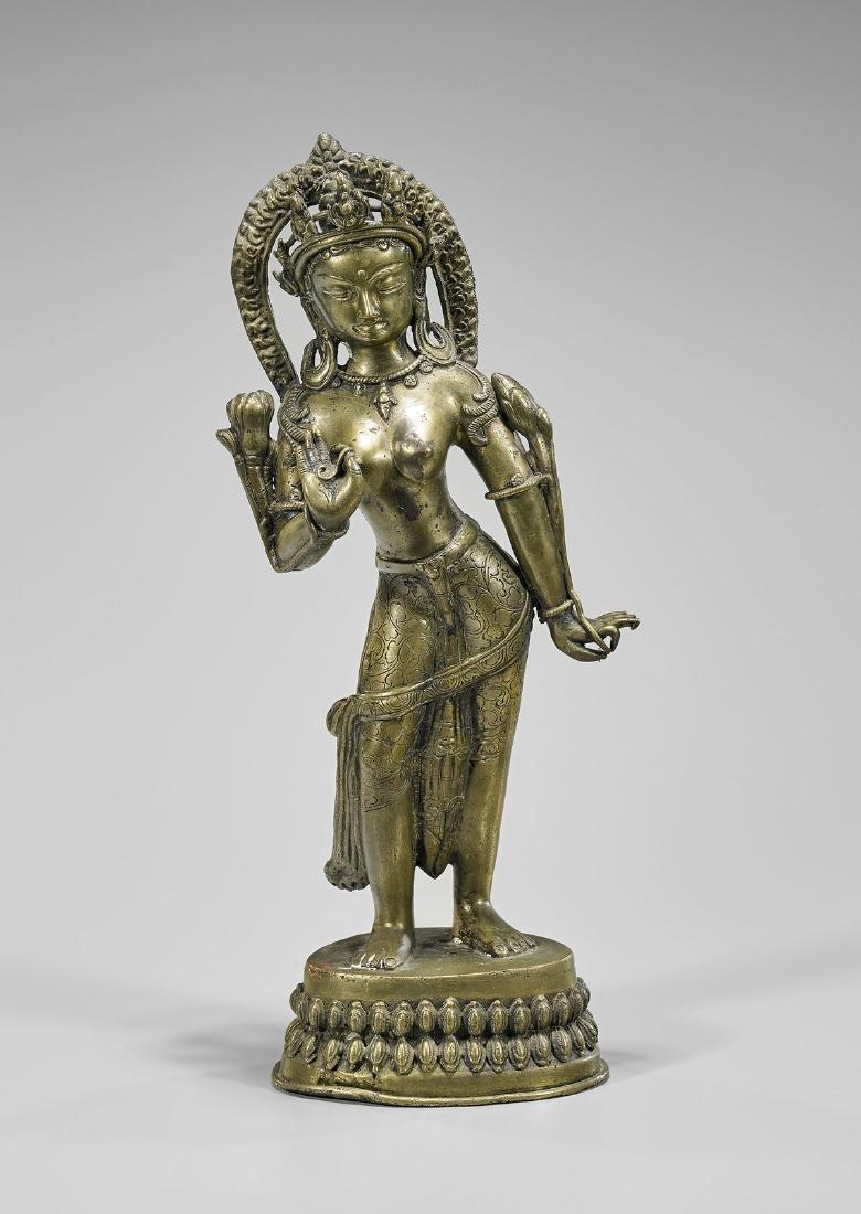 Sino-Tibetan Bronze Standing Deity