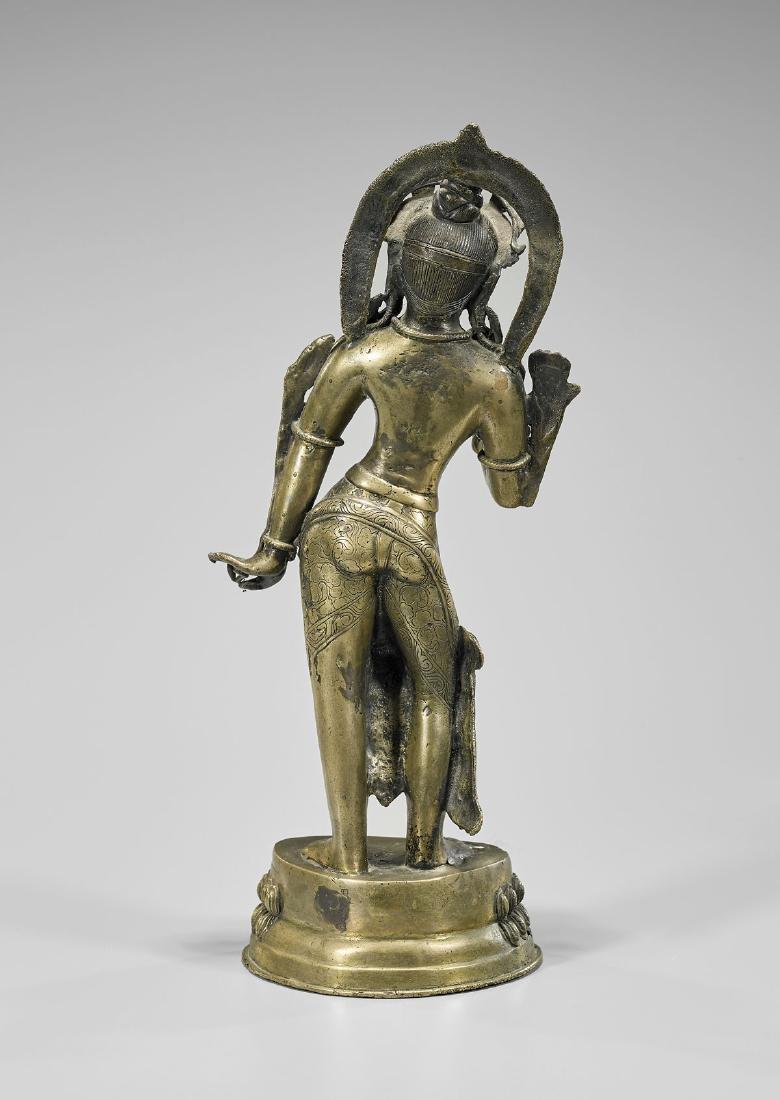Sino-Tibetan Bronze Standing Deity - 2