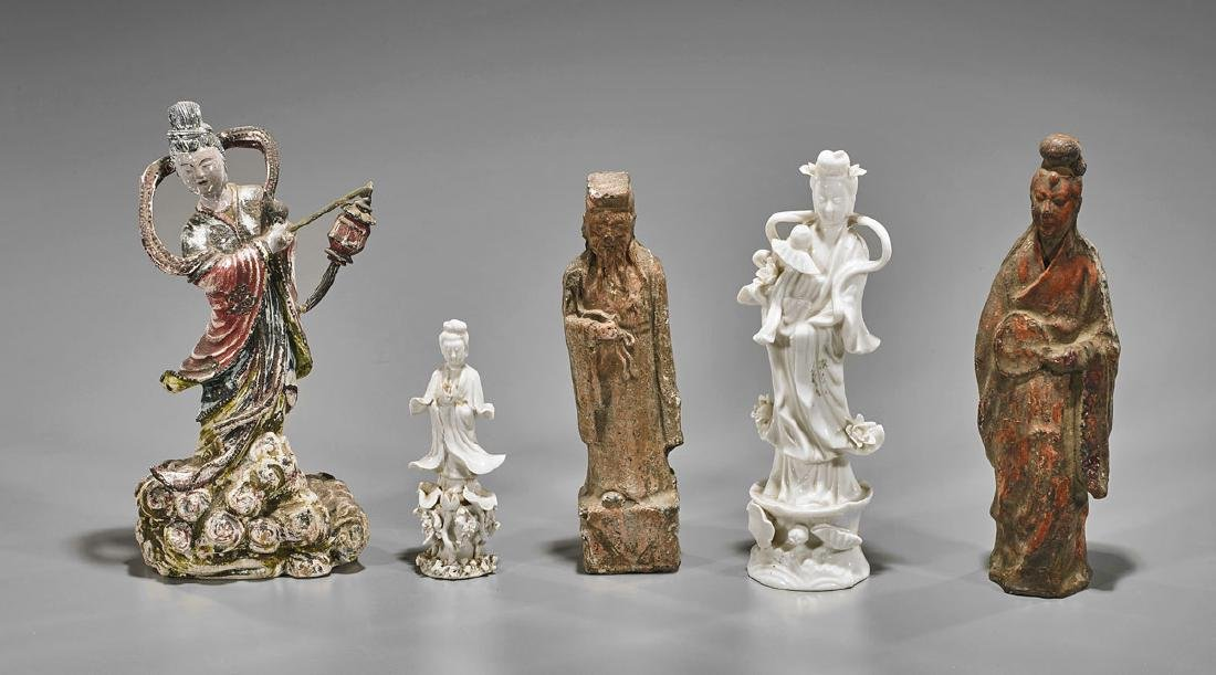Group of Five Chinese Figures