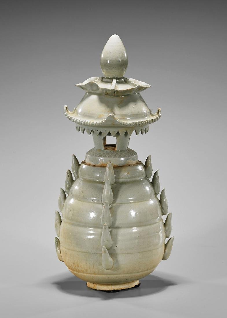 Elaborate Chinese Pottery Vessel