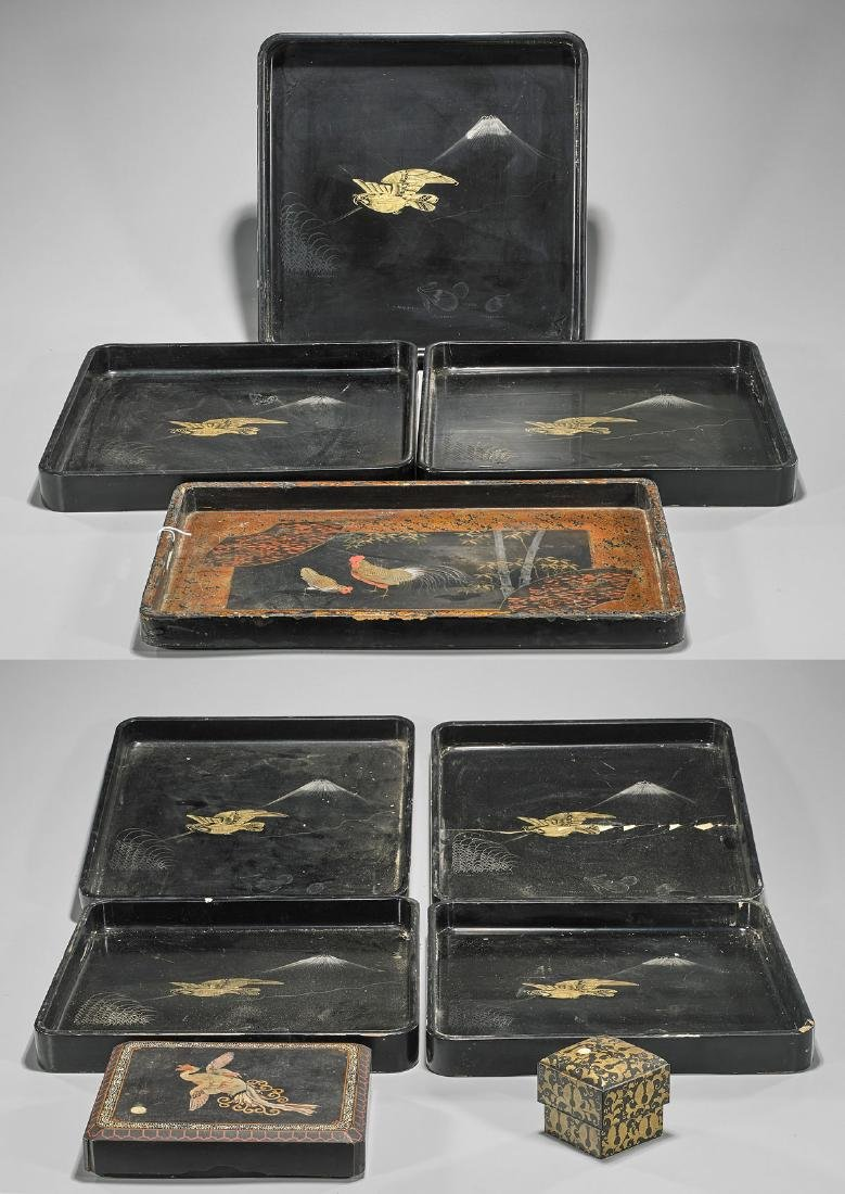 Group of Old & Antique Japanese Lacquerware
