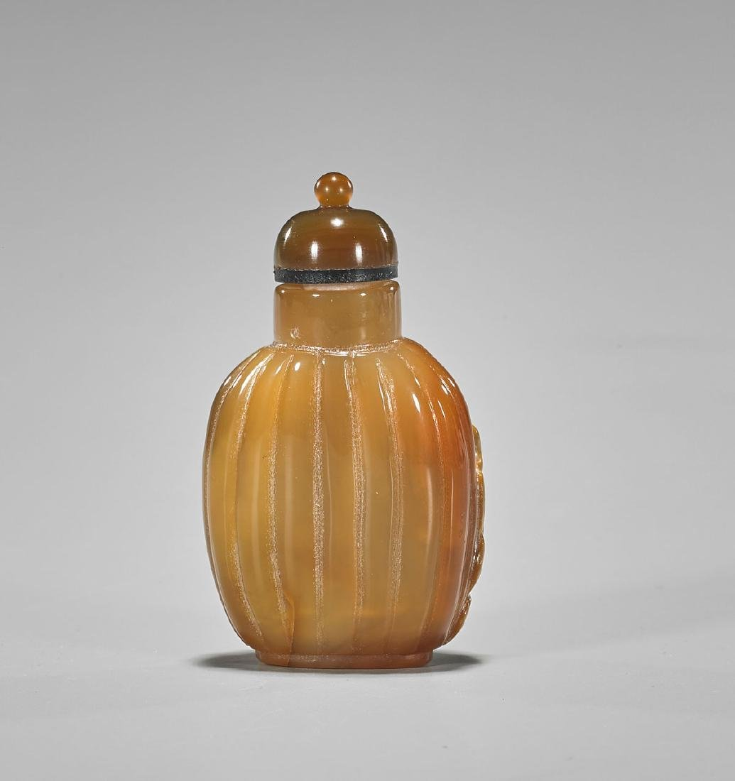Well-Hollowed Cameo Agate Snuff Bottle - 2