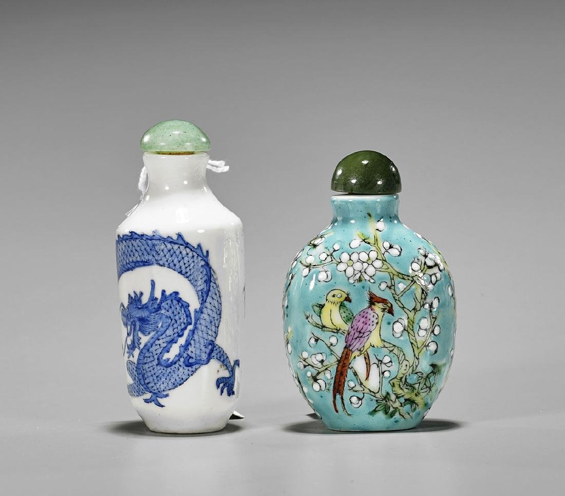 Two Old Porcelain Snuff Bottles