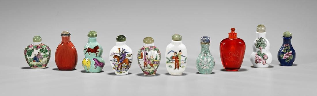 Collection of Ten Old Chinese Snuff Bottles - 2