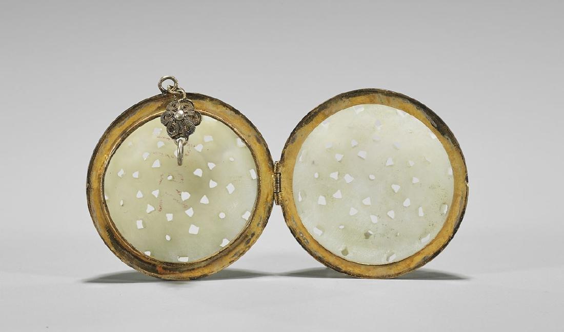 Antique Chinese Celadon Jade Locket - 2