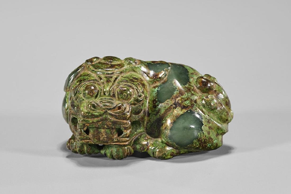 Chinese Carved Recumbent Lion