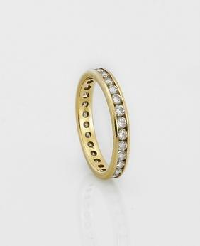 18K Gold & Diamond Eternity Ring
