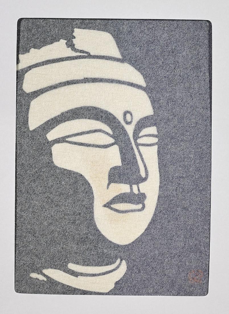 Six Japanese Prints: Woodblock & Stencil - 6