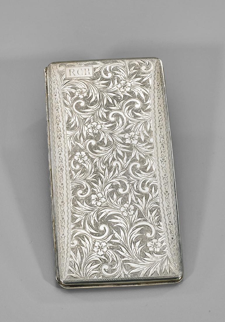 Antique Japanese Sterling Silver Cigarette Case