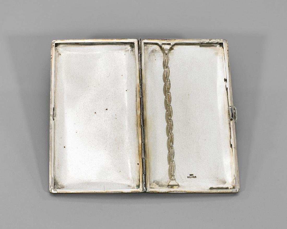 Antique Japanese Sterling Silver Cigarette Case: Flora - 3