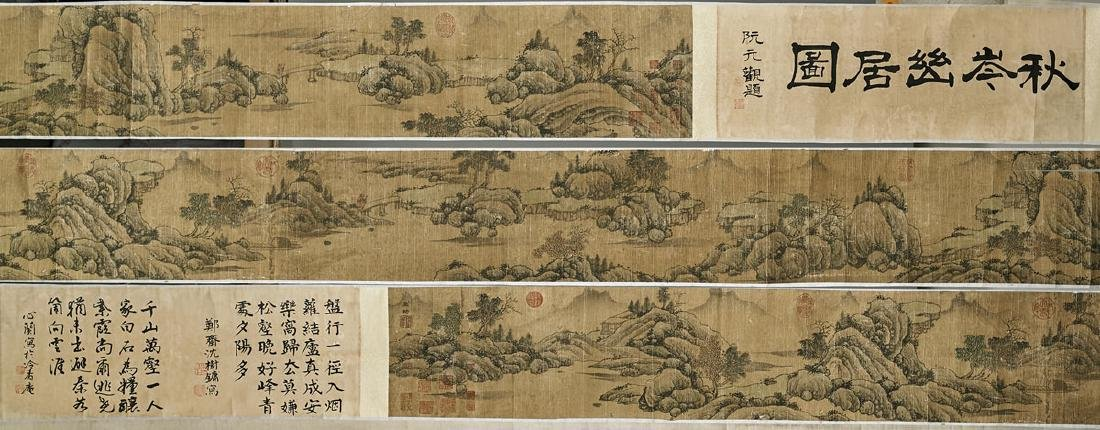 Two Chinese Handscrolls: Landscapes & Calligraphy - 3