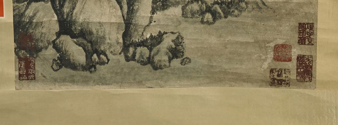 Two Chinese Paper Scrolls: Rural Scenes - 5