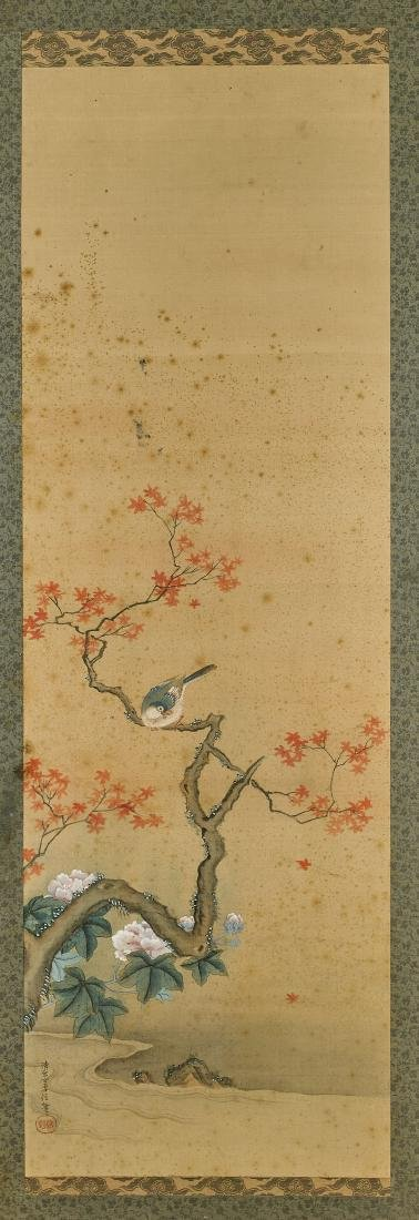 Pair Antique Japanese Silk Paintings - 3
