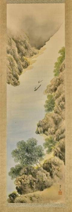 Two Chinese Landscape Paintings on Silk