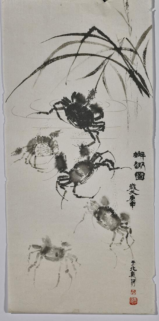 Six Various East Asian Paintings on Silk & Paper - 3