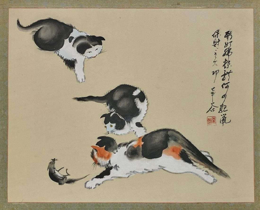 Six Various East Asian Paintings on Silk & Paper - 4