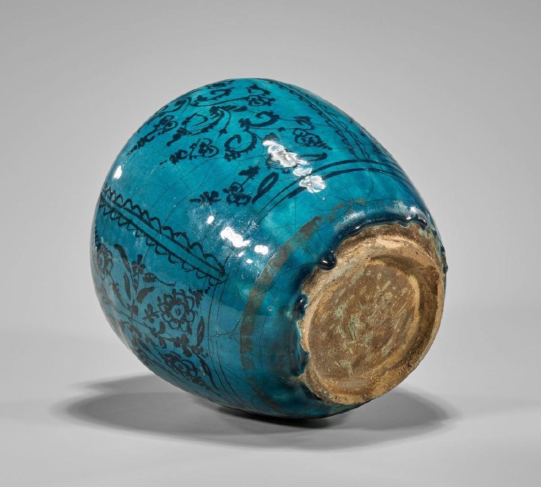 Antique Persian Glazed Terracotta Jar - 2