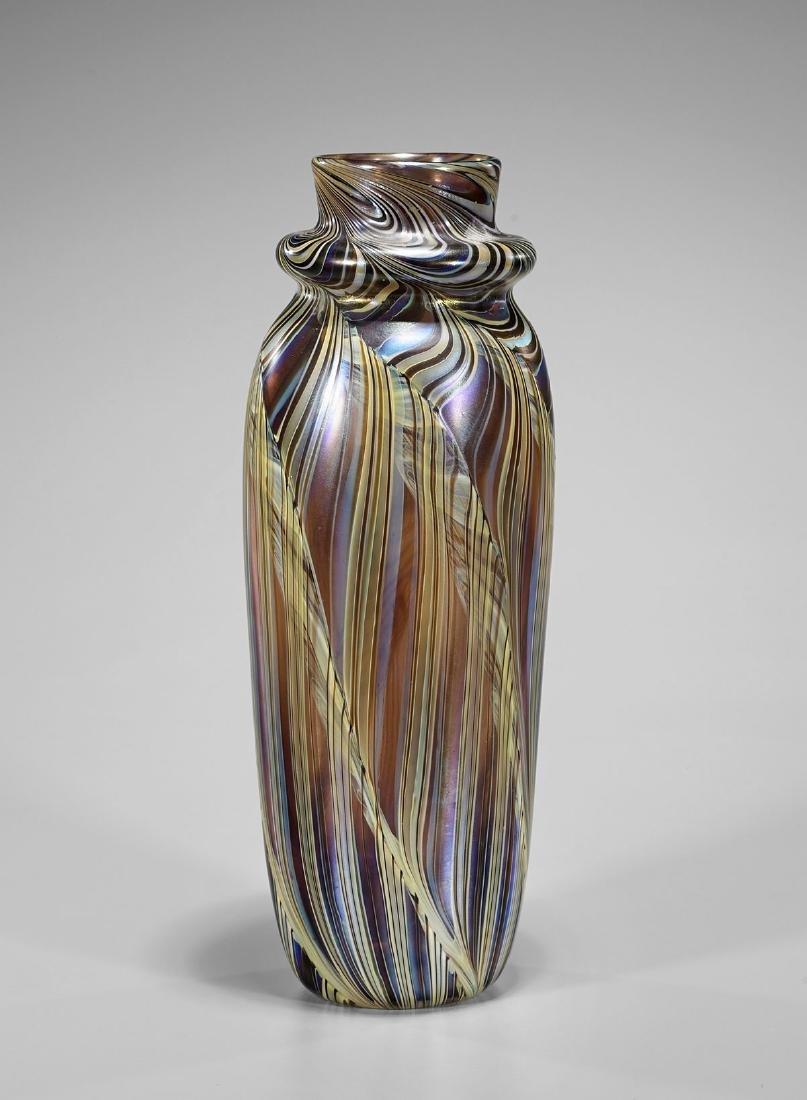 Iridescent Art Glass Vase by Orient & Flume