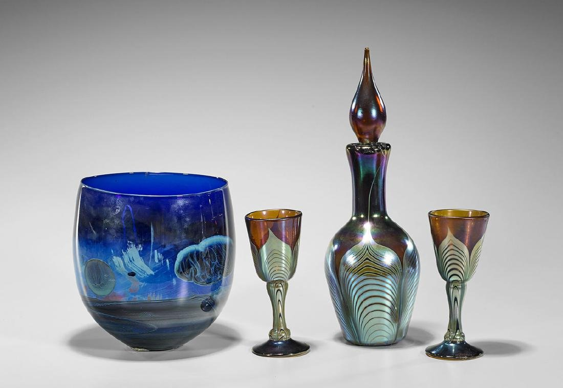 Group of Four Art Glass Pieces