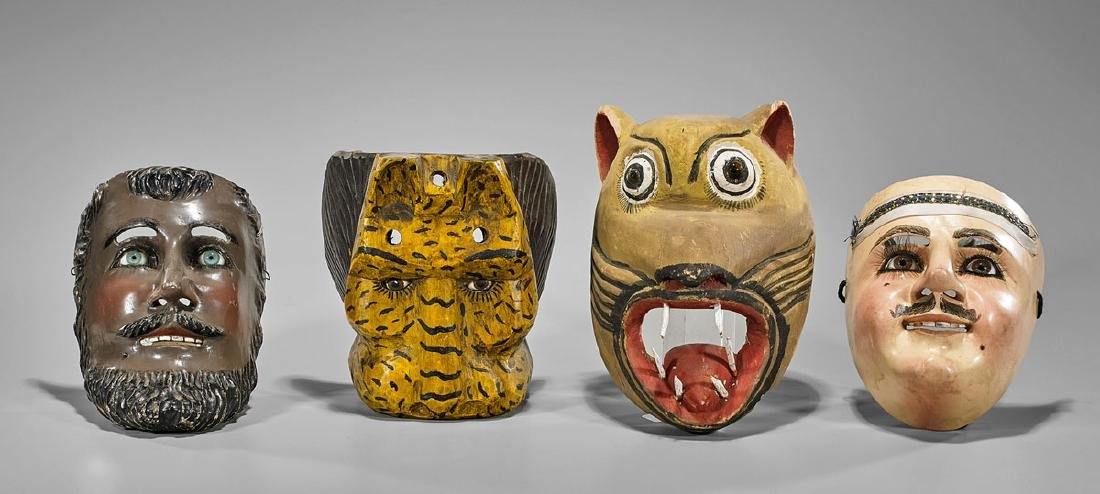 Four Mexican & Guatemalan Masks