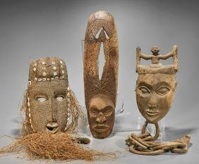 Group of Six Various African Masks