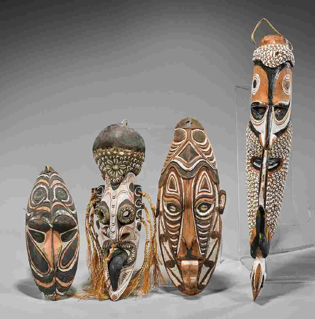 Group of Eight Various Wood Masks