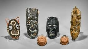 Collection of Nine Various Masks