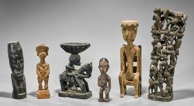 Group of African & Caribbean Figural Carvings