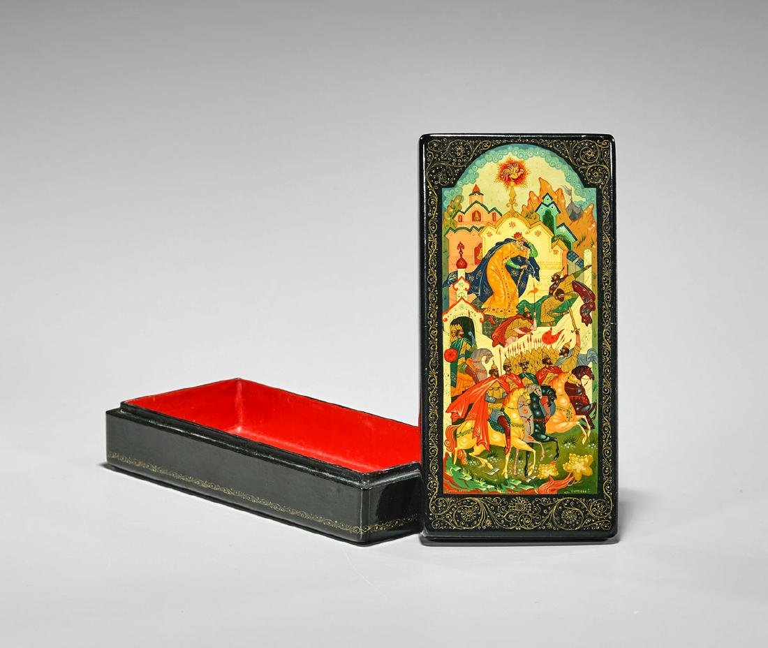 Russian Painted Lacquer Box
