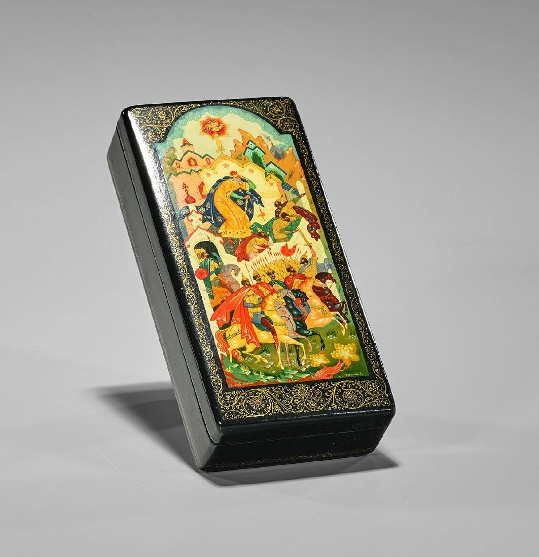 Russian Painted Lacquer Box - 2