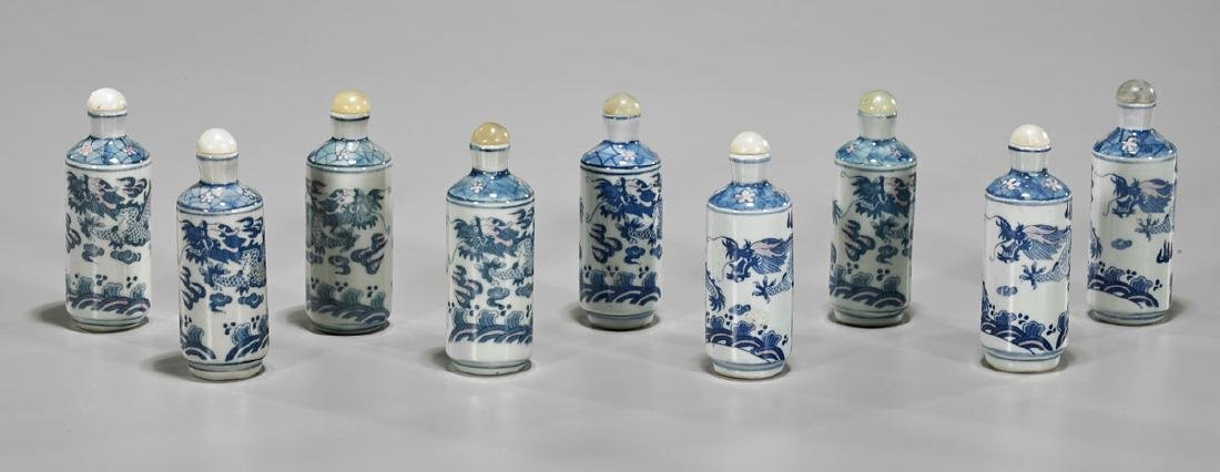 Group of Old Chinese Porcelain Snuff Bottles