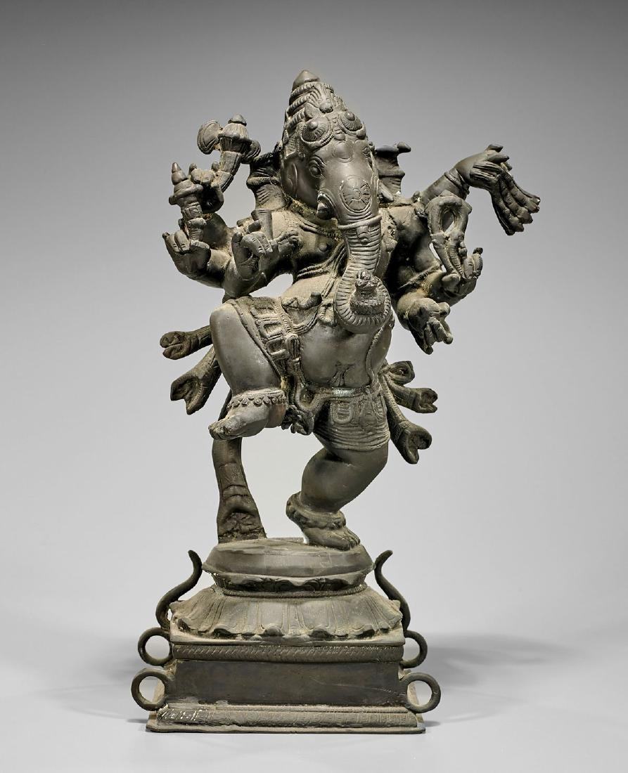 Old Indian Bronze Figure of Ganesha