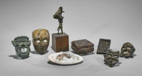 Group of Ceramic and Metal Sculptural Pieces