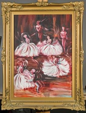 Two Paintings: Ballet Scene & Portrait